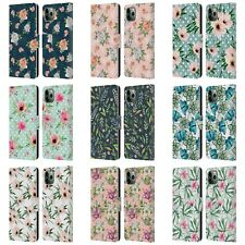 OFFICIAL JULIA BADEEVA FLORAL PATTERNS LEATHER BOOK CASE FOR APPLE iPHONE PHONES