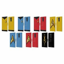 STAR TREK UNIFORMS AND BADGES TOS LEATHER BOOK CASE FOR MICROSOFT NOKIA PHONES