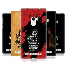 OFFICIAL AMC THE WALKING DEAD TYPOGRAPHY HARD BACK CASE FOR XIAOMI PHONES