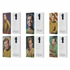 OFFICIAL STAR TREK CAPTAIN KIRK LEATHER BOOK CASE FOR MICROSOFT NOKIA PHONES