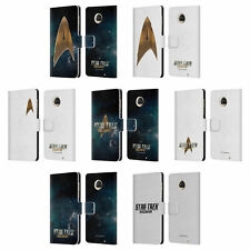 OFFICIAL STAR TREK DISCOVERY LOGO LEATHER BOOK WALLET CASE FOR MOTOROLA PHONES