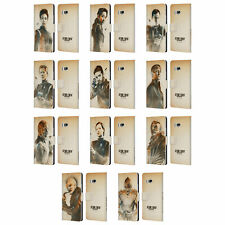 STAR TREK DISCOVERY GRUNGE CHARACTERS LEATHER BOOK WALLET CASE FOR HTC PHONES 1