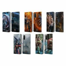 OFFICIAL ANNE STOKES DRAGON FRIENDSHIP 2 LEATHER BOOK CASE FOR SAMSUNG PHONES 1