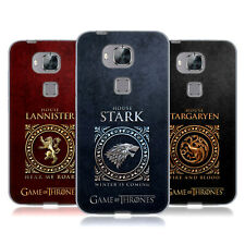 OFFICIAL HBO GAME OF THRONES METALLIC SIGILS SOFT GEL CASE FOR HUAWEI PHONES 2
