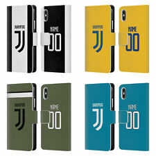 CUSTOM JUVENTUS FC 2017/18 RACE KIT LEATHER BOOK CASE FOR APPLE iPHONE PHONES