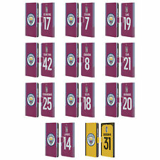 MAN CITY FC 2017/18 PLAYERS AWAY KIT 1 LEATHER BOOK CASE FOR MICROSOFT PHONES