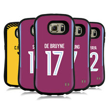MAN CITY FC 2017/18 PLAYERS AWAY KIT GROUP 1 HYBRID CASE FOR SAMSUNG PHONES