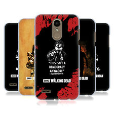 OFFICIAL AMC THE WALKING DEAD TYPOGRAPHY HARD BACK CASE FOR LG PHONES 1