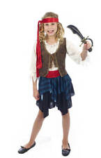 CHILD GIRLS CARIBBEAN PIRATE COSTUME PIRATE CAPTAIN FANCY DRESS