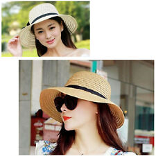 Cap Visor New Summer Sunscreen Outdoor Beach UV Protection Straw Hat For Ladies