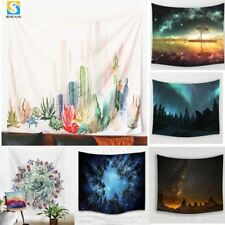 Wall Hanging Cactus Tapestry Green Succulents 3D Flower