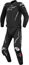 Alpinestars Mens Black/White Atem 2 Piece Leather Riding Motorcycle Race Suit