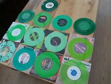 "GREEN COLOURED VINYL SINGLES 45RPM 7"" VINYL RECORDS EX. COND SOME BRAND NEW"