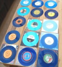 "BLUE COLOURED VINYL SINGLES 45RPM 7"" VINYL RECORDS EX. COND SOME BRAND NEW"