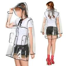 Latest Fashion Clear Outdoor Hiking Transparent Raincoat PVC Lightweight Travel
