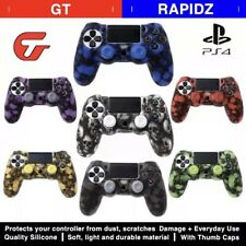PS4 Gamepad Cover Case Silicone Skull + 2 Caps For PS4 Pro Slim Controller