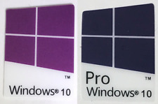 25x/50x Windows 10 pro & 10 Custodia Stemma Adesivo Blu/Viola All'Ingrosso