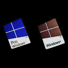 2x Windows 10 pro / Windows 10 Custodia Logo Badge Adesivo - PVC Colori