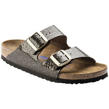 Birkenstock Arizona Soft Footbed Birko-Flor Open-Back Sliders Womens Sandals