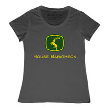 Ladies House Baratheon Game Of Thrones T Shirt Funny Tractor Style Farmer Logo