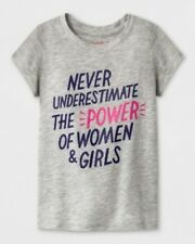 Girls Toddlers Cat & Jack Short Sleeve Graphic T-Shirt Gray Select Size (3559)