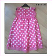 New Girls NEXT Dress Age 2-3 Years Pink White Spotted Cotton Lined Summer Dress