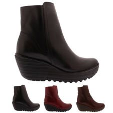 Womens Fly London Yeti Leather Winter Wedge Casual Fashion Ankle Boots UK 3-9