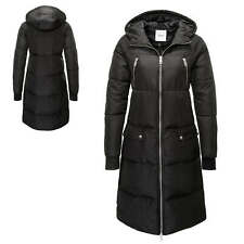 Pieces Damen Steppmantel mit Kapuze Wintermantel Winterjacke Damenjacke Mantel