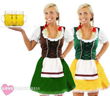LADIES OKTOBERFEST COSTUME WITH STOCKINGS GERMAN BEER MAID BAVARIAN FANCY DRESS