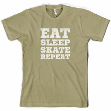 Eat Sleep Skate Repetir - Camiseta Hombre-Skateboard-Skateboard-10 Colores