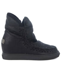 Stivaletto Mou Wedge Eskimo in pelle nera