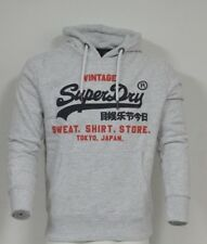Superdry M20004NS/54G Mens Original Sweat Shirt Duo Hood Hoodies Ice Marl