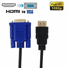 Hdmi Macho A Vga Macho Cable Adaptador Conector de video para PC DVD 1.8 M 1080p