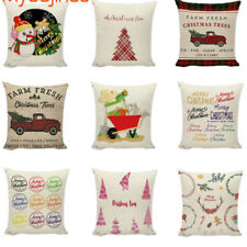 Red Farm Fresh Christmas TreeThrow Pillow Case Truck Happy Camper cushionCover