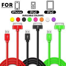 1, 2 METRE CHARGING CHARGER DATA CABLE LEAD FOR IPHONE 4 4GS 3GS IPAD 2 3 4 IPOD