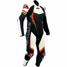 RICHA FRANCORCHAMPS BLACK RED FLO 1 PIECE LEATHER MOTORCYCLE MOTORBIKE RACE SUIT