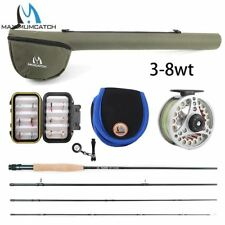 5WT Fly Fishing Combo 9FT Medium-fast Fly Rod Pre-spooled Fly Reel 5F Fly Line W