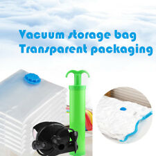VACUUM SEALED BAG CLOTHES TRANSPARENT COMPRESSION POUCH SAVING SPACE ORGANIZER K