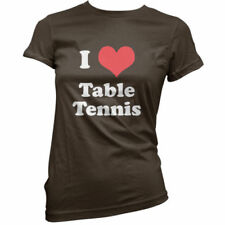 I Love Tenis de Mesa - Mujer / Camiseta Mujer -11 Colores - Ping Pong- Equipo