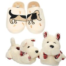 cute dog slippers  novelty womens funny animal fluffy christmas gift scotty boot