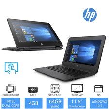 HP Stream Pro & x360 11.6 inch Touchscreen Laptop Intel Dual Core, 4GB RAM, 64GB