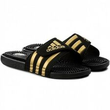 2e8abed7fcc0c New Women s Adidas Adissage slides Black Gold Athletic Massage Sandals  CM7921