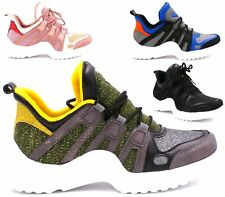 Running Trainers Womens Fitness Gym Light Sports Comfy Lace Up Shoes Size 3-8