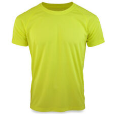 Stedman Raglan Active 140 Lightweight Breathable Sports Gym T-Shirt Top Yellow