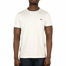 Fred Perry Twin Tipped T Shirt - Snow White