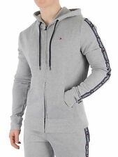 Tommy Hilfiger Men's Zip Logo Tapping Hoodie, Grey