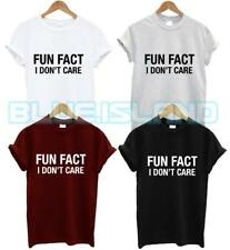 FUN FACT I DON'T CARE T SHIRT NOT A MORNING PERSON FASHION TUMBLR HIPSTER SWAG