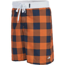 Trespass Mens Pacino Check Pattern Mid Length Board Shorts
