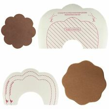 Breast Lift Tape A-H Cup Stick on Bra Silk Reusable Silicone Nipple Covers Brown