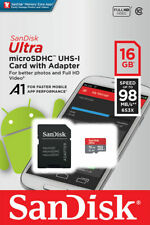 SanDisk Ultra 16GB 32GB 64GB A1 Micro SD SDHC Card 98MB/s C10 Adapt WHOLESALE